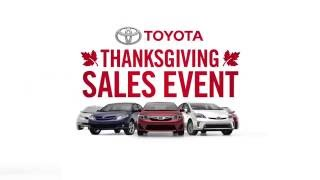 "Toyota ""Thanksgiving Sales Event"""